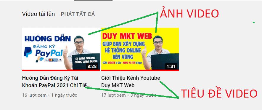 Seo tiêu đề và ảnh đại diện video là vô cùng quan trọng khi làm Youtube